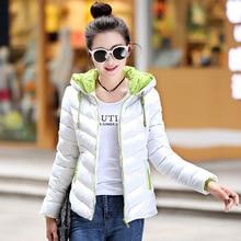 New fashion Winter Women padded Jacket Female Slim long Down cotton Wadded Coat Women Hoodies Parkas Plus Size