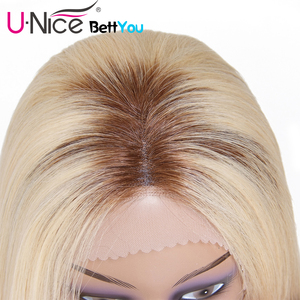 Image 5 - Unice Hair Bettyou Wig Series T4 613 Lace Wig For Black Women Ombre Blonde Lace Front Wigs Pre plucked Straight Human Hair Wigs