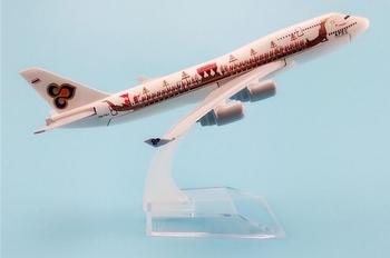 16cm Metal Alloy Plane Model Thailand Air Thai APEC Dragon Boat B747 Aircraft Boeing 747 400 Airlines Airplane Model w Stand image