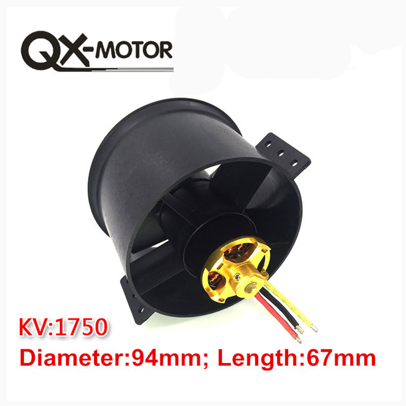 QX-MOTOR 90mm 6 Blades Ducted Fan EDF Unit With 3530 KV1750 Motor Brushless 6S Version For RC Airplane Model Plane Parts 5 blade 64mm outrunner ducted fan 4300kv brushless motor 30a esc for lipo rc jet edf plane airplane fan