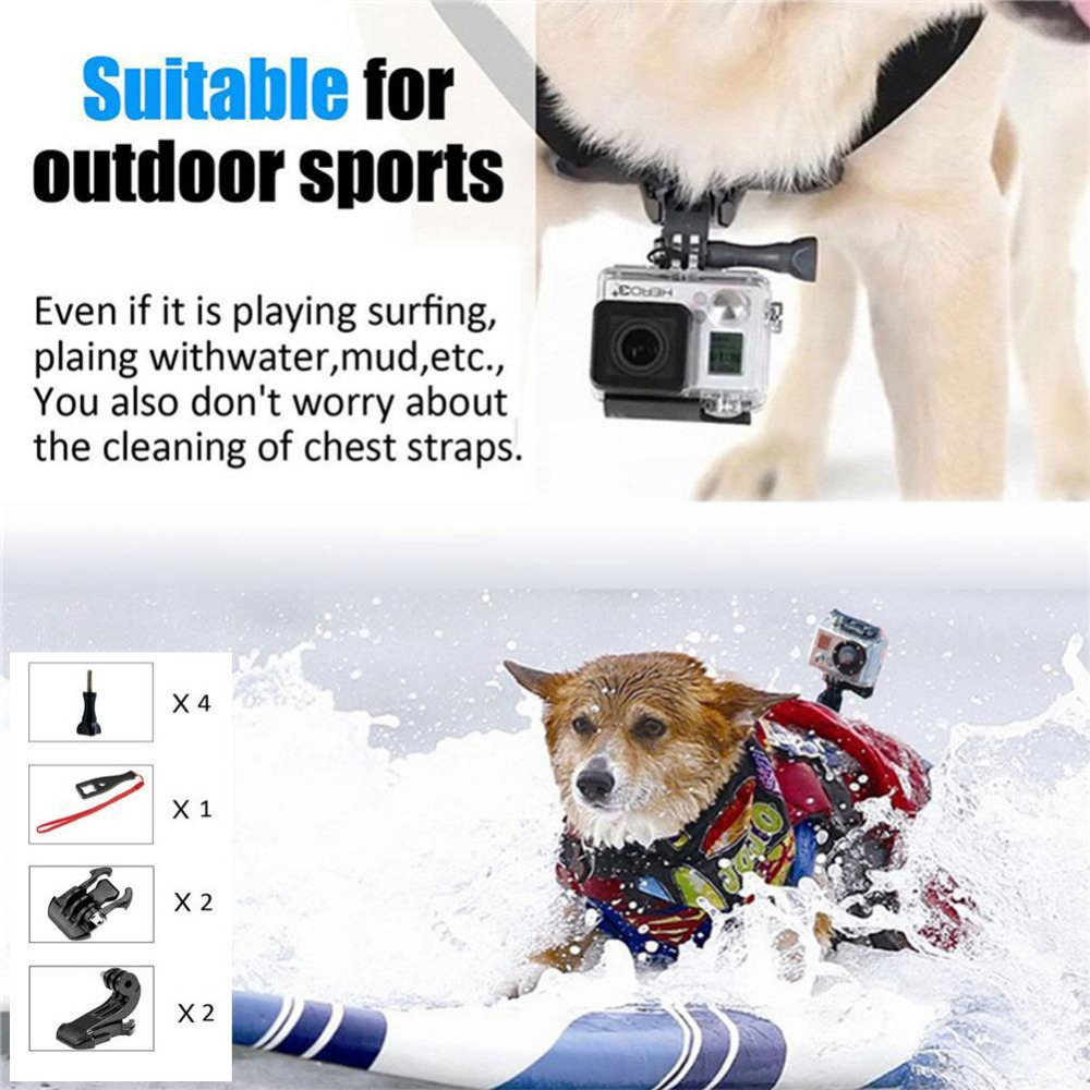Pets Dog Harness Strap Chest Back Strap For GoPro Sports Camera Hero4/ 3+ /3 аксессуар gopro fetch dog harness adogm 001