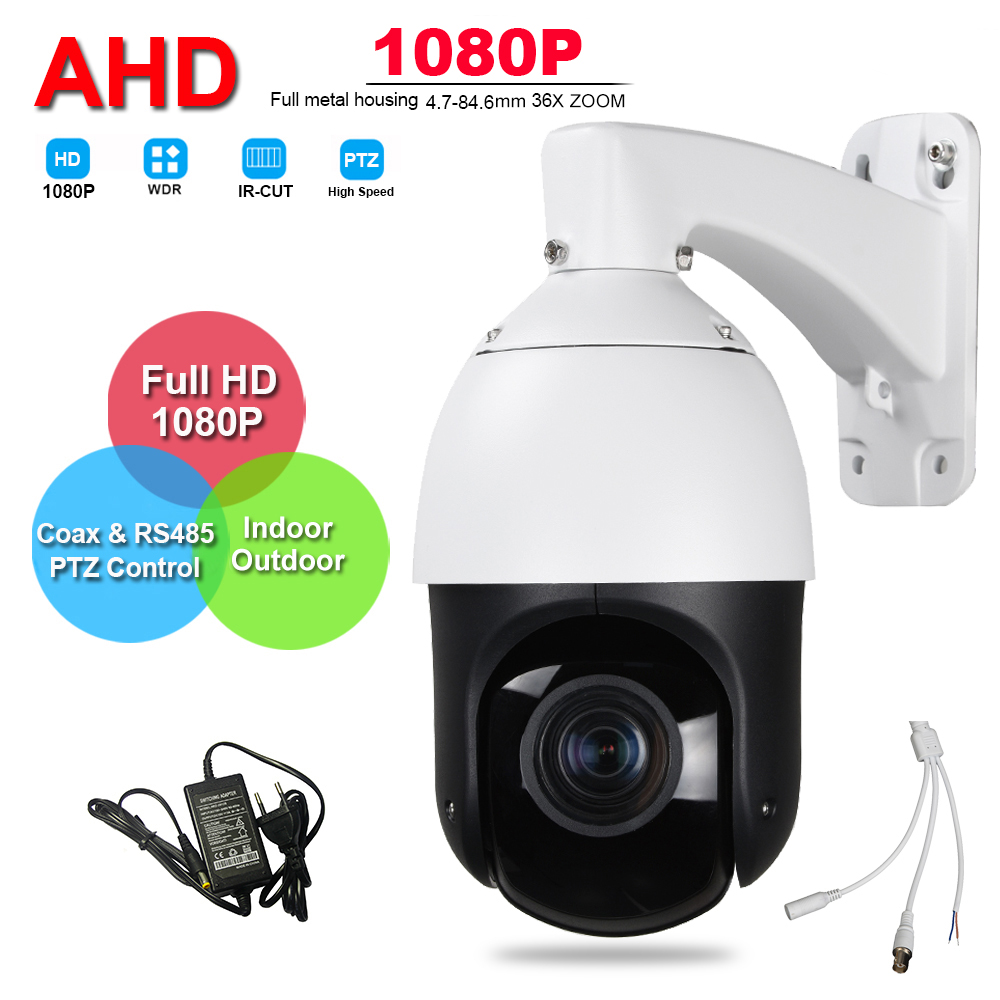 IP66 Outdoor Security FULL HD 1080P Analog AHD TVI CVI 4IN1 High Speed PTZ Camera Surveillance 2.0MP 36X ZOOM Auto Focus IR-CUT security cctv ahd 1080p 2 0mp 6 high speed dome ahd ptz camera 20x optical zoom ir 300m auto focus ip66 full hd pan tilt ir cut