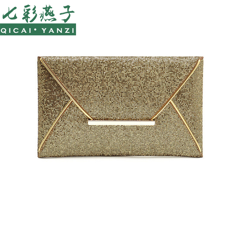 2017 New Hot Of Hand Package Women Fashion Sequins Envelope Bag Personality Clucth Purse Leather Top Quality P344
