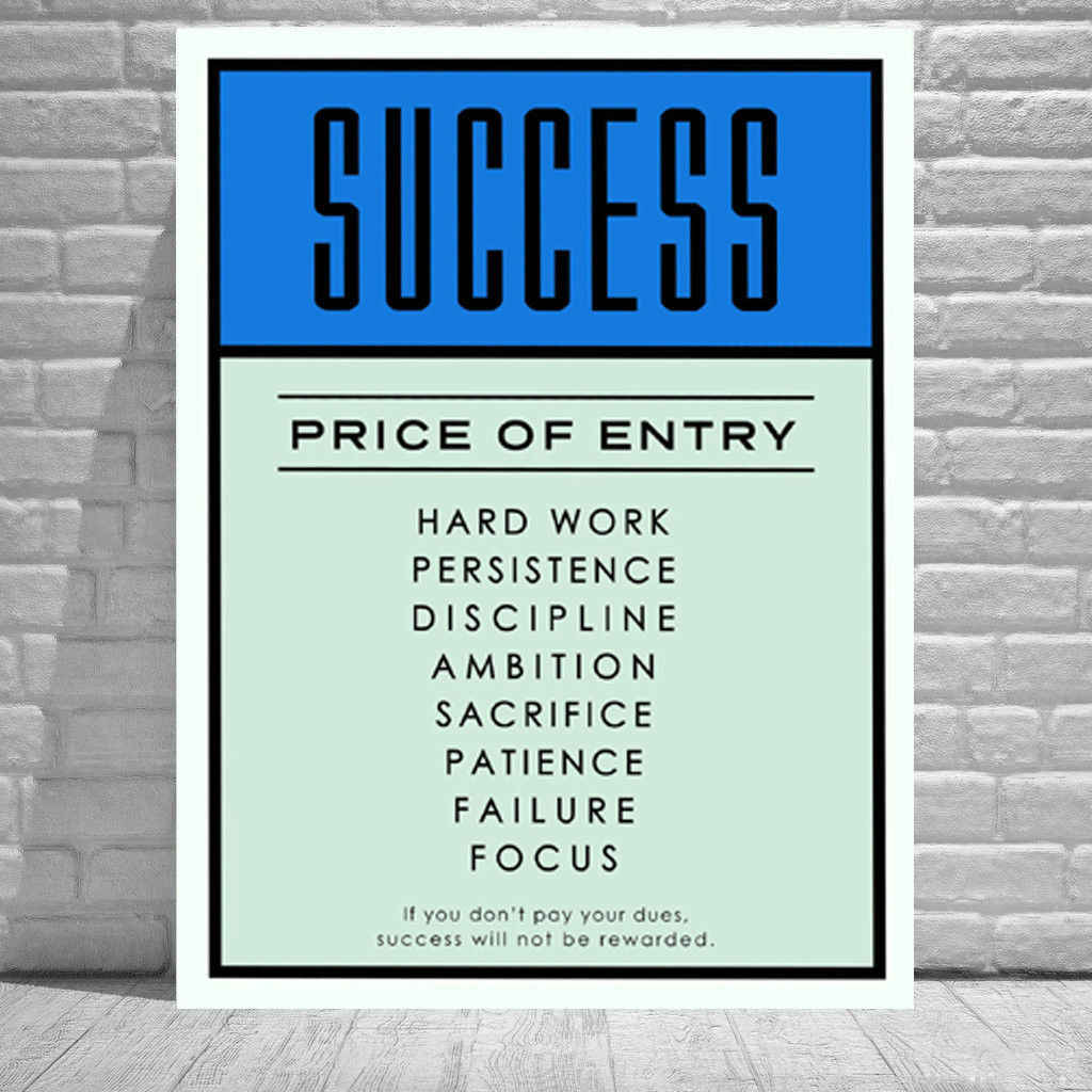 Alec Monopolys Success Abstract Wall Art Oil Painting Poster Canvas Painting Print Pictures for Living Room Home Decor