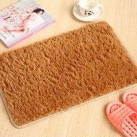 Bedroom carpet New gold velvet carpet solid color carpet door absorbent pad bedroom super soft plush pad 029