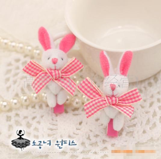 Stereoscopic Animal Hairy Rabbit barrettes for hair accessories Plush Bunny Bear Girls hair clip kid Children headwear kk1131 мобильный телефон samsung sm a7009 4g l