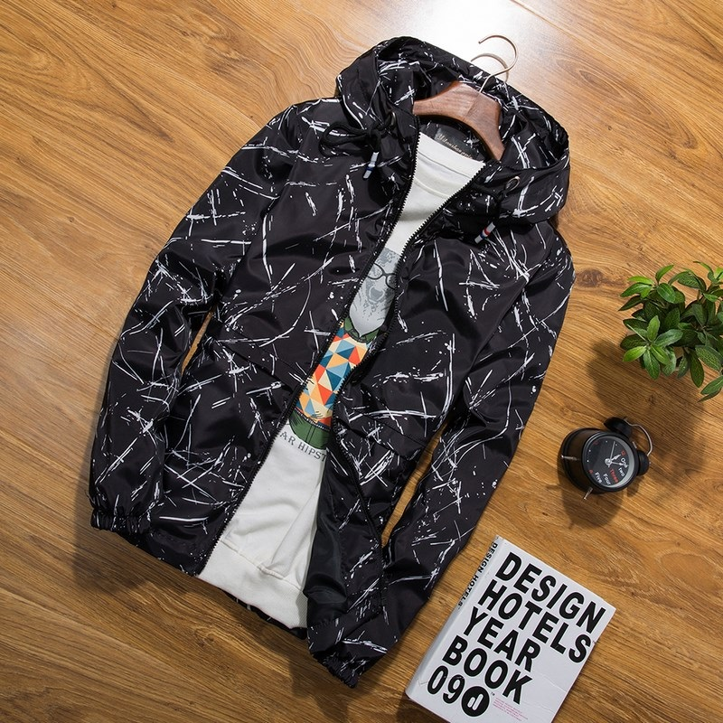 XS 3XL new Spring Autumn Mens Casual floral Camouflage Hoodie Jacket Men Waterproof Clothes Mens Windbreaker Coat Male Outwear in Jackets from Men 39 s Clothing