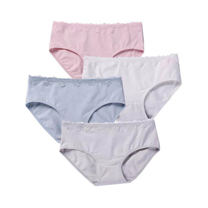 DEWVKV Sexy Lace Panties Seamless Women Underwear Briefs High Quality Cotton Transparent  Lingerie Female GBQ