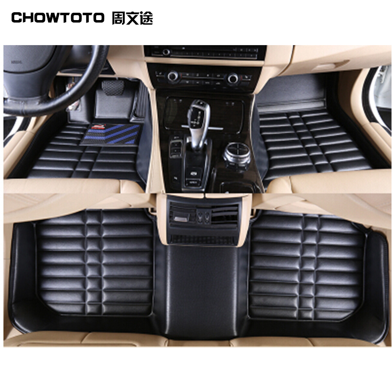 CHOWTOTO Special <font><b>Floor</b></font> Mats For <font><b>Ford</b></font> Kuga/<font><b>Escape</b></font> Wear-resisting Leather Carpet For Kuga/<font><b>Escape</b></font> Car Styling
