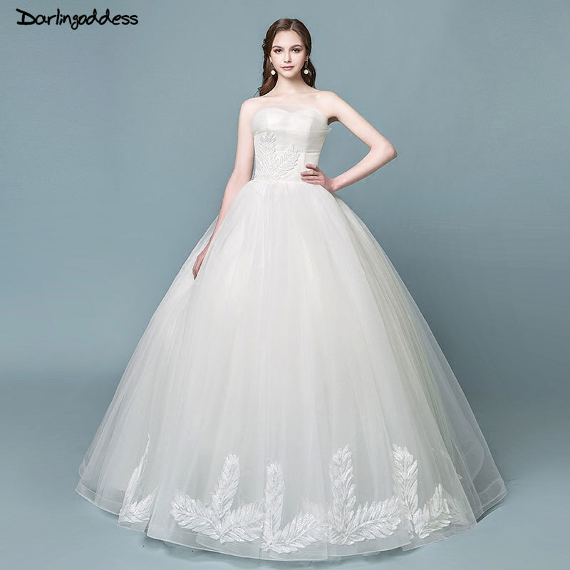 Simple Plus Size Wedding Dresses: Darlingoddess Vestido De Novia Cheap Lace Wedding Dress