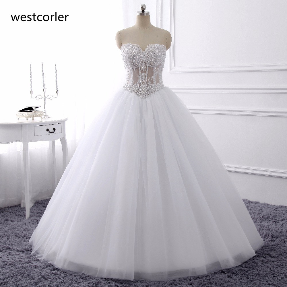 Luxurious bling strapless wedding dresses corset bodice for Best bustier for strapless wedding dress