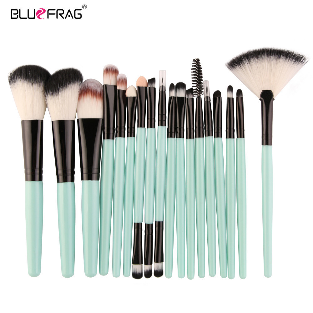 18 /15Pcs Full Professional Makeup Kit Set Makeup Brushes Powder Foundation Blush Eye Shadow Blending Make Up Brush Beauty Tools makeup brushes set tool 18 15pcs brushes