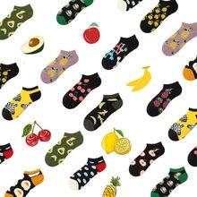 Sp & cidade dos desenhos animados bonito fruta algodão verão meias legal feminino curto animal meias chinelos ins populares unisex kawaii baixo fino meias