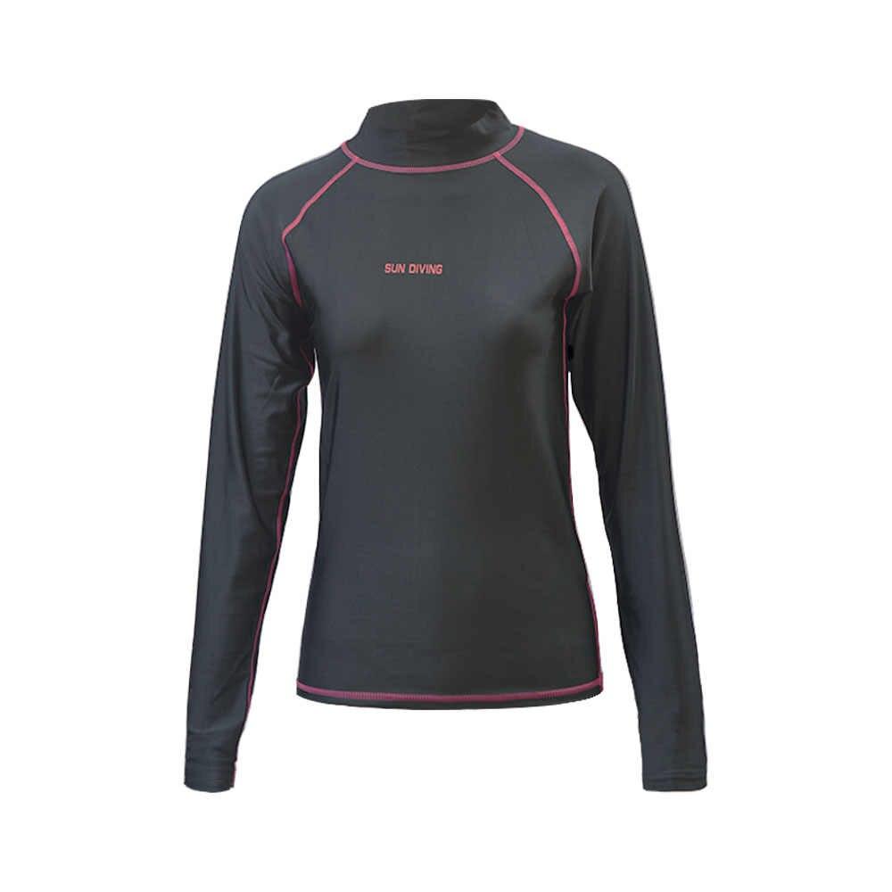 Купальные рубашки с длинным рукавом UPF 50 + для женщин УФ Защита манга Ларга дамы серфинг Рашгард черный топ для девочек плавать mimg футболка