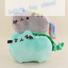 1Pcs 25 30cm Pusheen Cat Cos Unicorn Pusheenosaurus Dinosaur Dino Mint Cushion Plush Kawaii Animal Rainbow