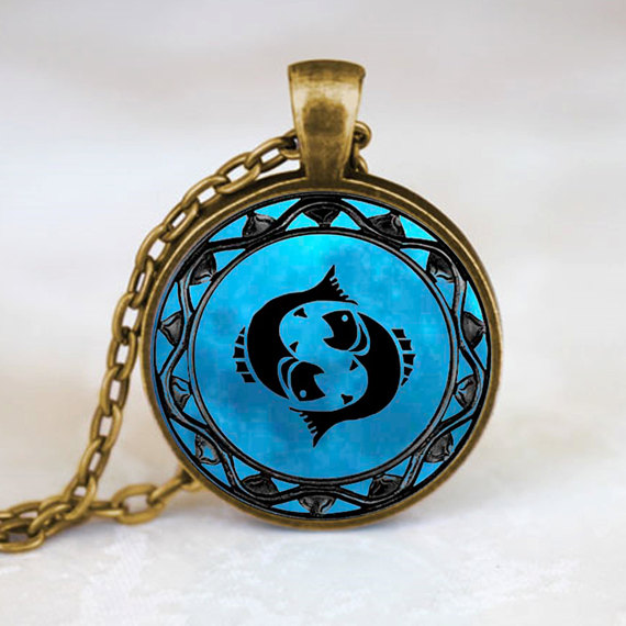 12 style blue moon zodiac glass cabochon necklaces pendants best 12 style blue moon zodiac glass cabochon necklaces pendants best friends pendant aloadofball Images