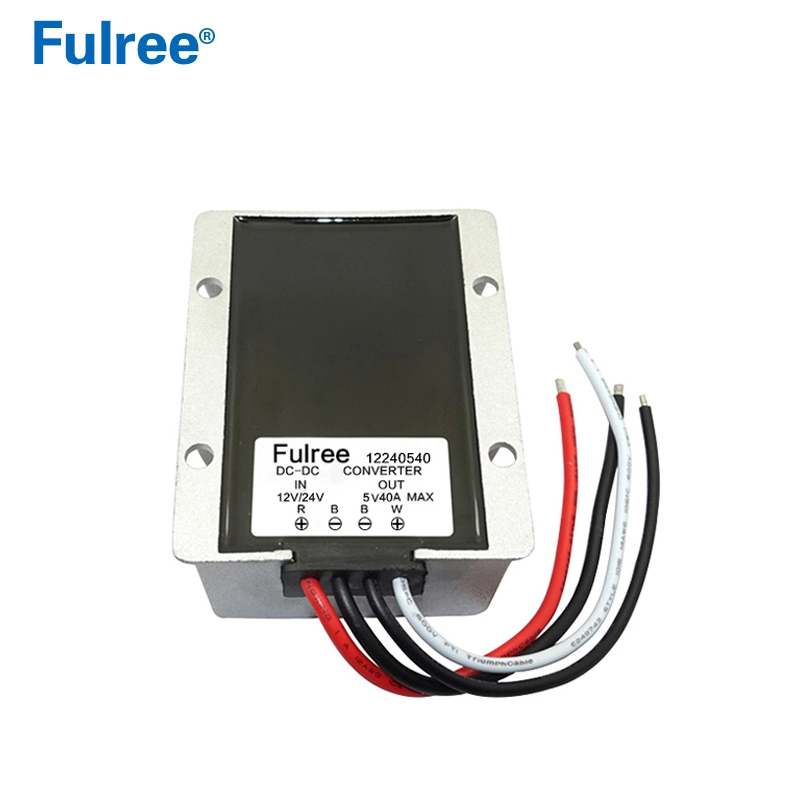 Waterproof DC-DC Converter <font><b>24V</b></font> <font><b>to</b></font> 5V, <font><b>12V</b></font> <font><b>to</b></font> 5V <font><b>40A</b></font> Step Down Converter 200W Buck Car Power Supply Module image