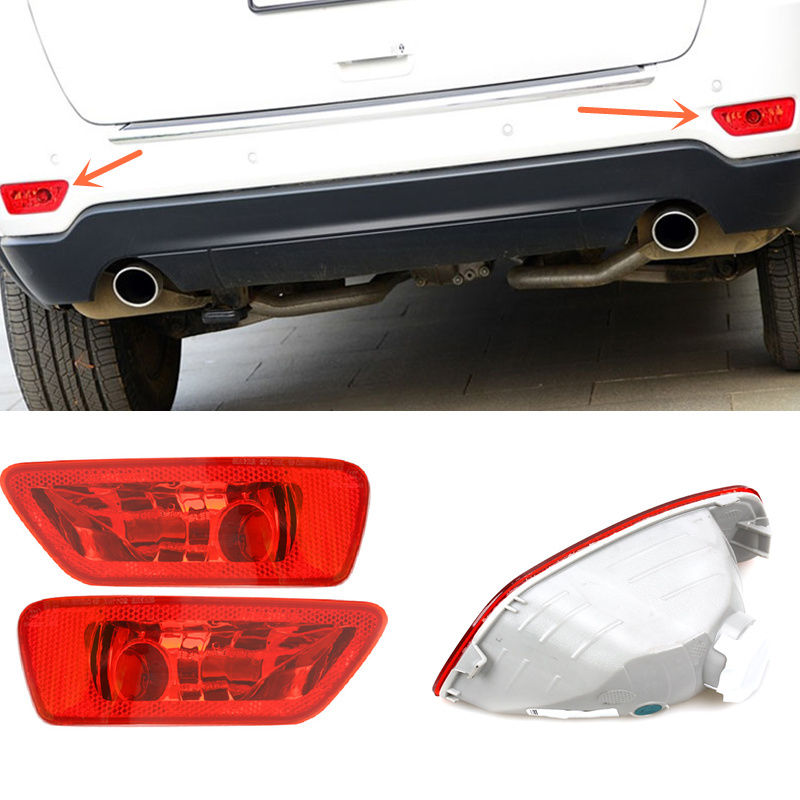 For JEEP Grand Cherokee 2011-16/ Dodge JCUV 2012-16 2*Rear Fog lamp Cover TrimFor JEEP Grand Cherokee 2011-16/ Dodge JCUV 2012-16 2*Rear Fog lamp Cover Trim