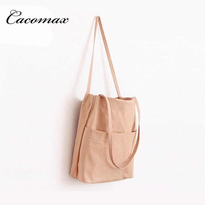 2017 Hot Women's Shoulder Handbag Female Canvas Tote Bag female big bag ulzzang college Good Quality Handbag Bolsa Feminina