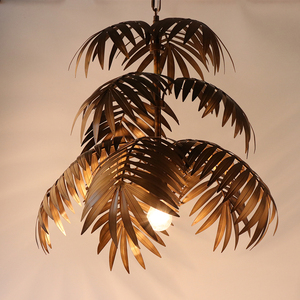 Image 5 - Industrial art deco coconut tree pendant light LED E27 modern loft hanging lamp for living room restaurant bedroom lobby hotel