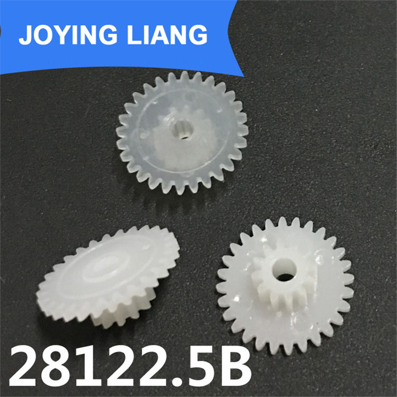 28122.5B Gear 0.5 Modulus Plastic Gear Double Layers 28T/ 12T Loose 2.5mm Shaft Hole Gear Wheels (2500pcs/lot)