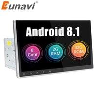 Eunavi 10,1 2 Din Универсальный Android 8,1 автомобильный Радио ПК gps Навигация стерео Bluetooth USB головное устройство 2G ram 1024*600 HD без DVD