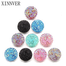 10pcs/lot Unisex 18mm Resin Snap Button DIY Jewelry For Female Leather Bracelet Women's Charm Beads ZD015