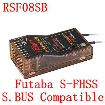 Cooltech RSF08SB kompatibel Futaba S-FHSS SBUS 8ch empfänger 10J, 8J, 6 karat, 6J, 10J, 14sg, T16SZ, 18 MZWC, 18SZ, TM-FH, frsky delta 8