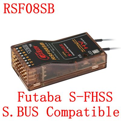 Superior Hobby Cooltech RSF08SB compatible Futaba S-FHSS SBUS 8ch receptor 10J, 8J, 6 k, 6J, 10J, 14sg, 18 MZWC, 18SZ frsky delta 8