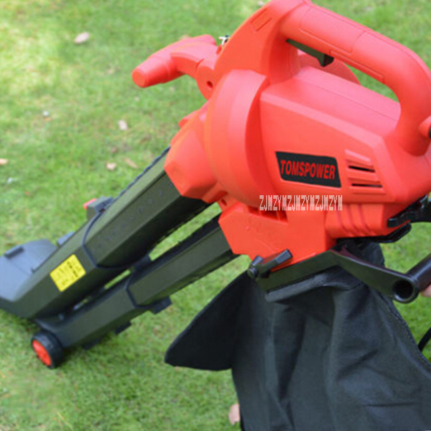 New Electric Leaf Suction Machine Outdoor Garden Leaf Blower & Vacuum-Powerful 2800W 220V 14000 rev/min 275km/h With 10m Cable powerful vacuum suction hooks white