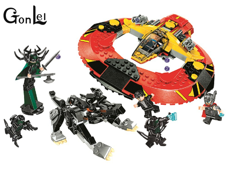 10747 Super Heroes the Ultimate Battle for Asgard building blocks DIY Educational bricks toys for children Compatible with 76084 decool 7118 batman chariot super heroes of justice building block 518pcs diy educational toys for children compatible legoe