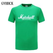 Marshall T Shirt Logo Amps Amplification Guitar Hero Hard Rock Cafe Music Muse Tops Tee Shirts For Men Fashion Harajuku T-shirts(China)