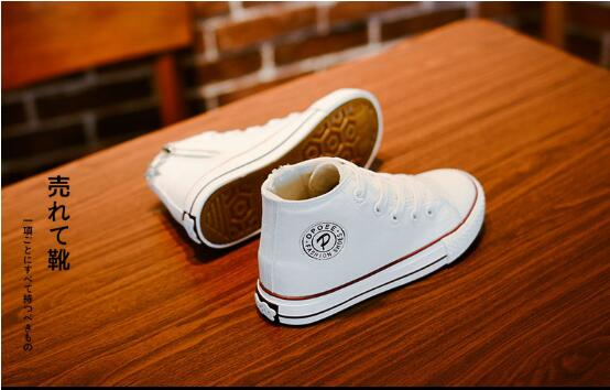 Children's canvas shoes Korean version of the tide boy girl shoes white sneakers dance shoes performance shoes