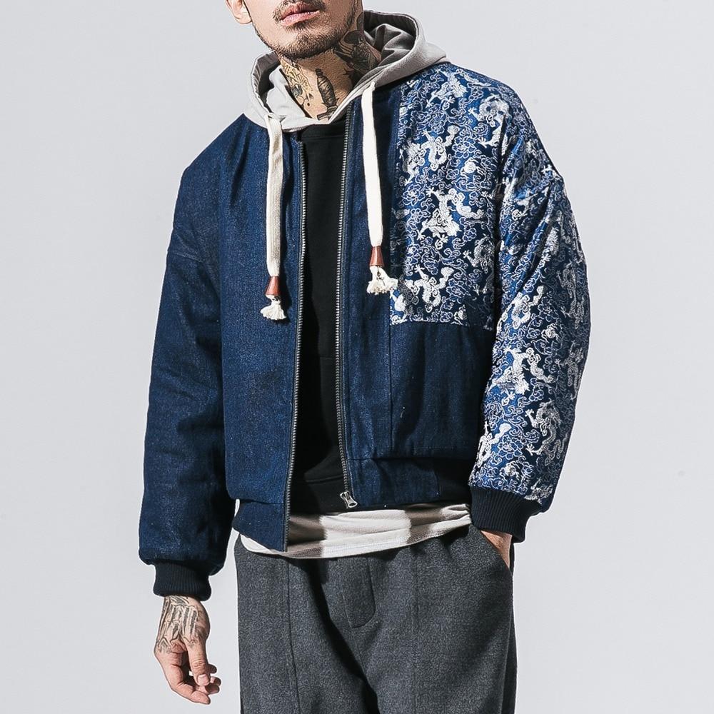 Nice Mr-donoo 2018 Spring Japan & Korea Cowboy Men Cotton-padded Jacket Blue Denim Thermal Coat Male Outwear Men Clothing B375-y11 Jackets & Coats Parkas