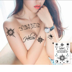 Manzilin 5pcs set 15 22cm waterproof temporary tattoo stickers english word designs body art makeup styling.jpg 250x250