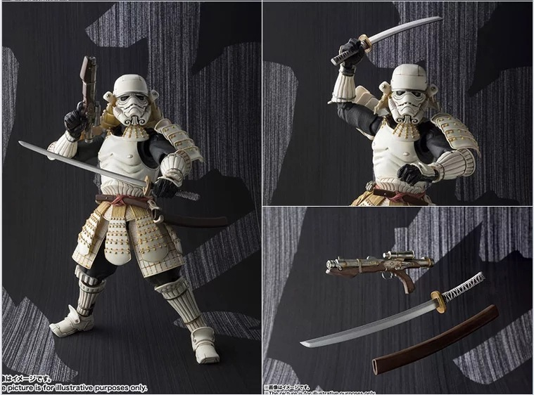 Star Wars Ashigaru Stormtrooper PVC Action Figure Collectible Model Toy 17cm KT3919 playarts kai star wars stormtrooper pvc action figure collectible model toy