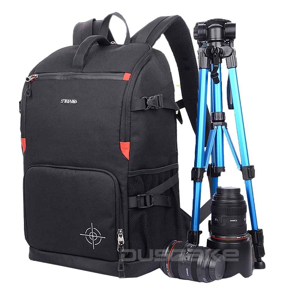 "DSLR Camera Backpack Padding Lens Divider Insert Bag with 15"" Laptop Pack Travel for Canon 5D 7D 600D Nikon D7200 Sony a6000"