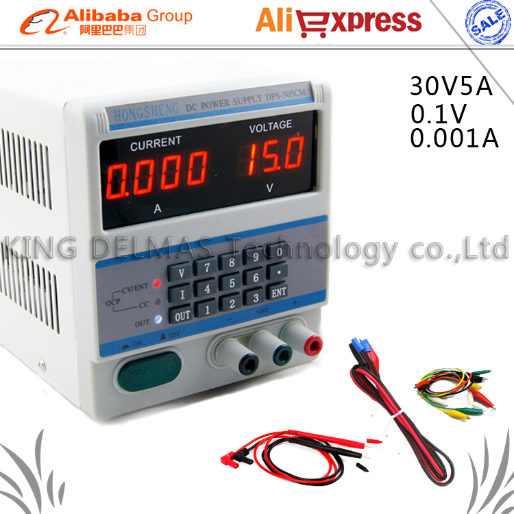 4Ps DPS-305CM Adjustable keypad Digital LED DC Power Supply 30V 5A 0.1V/0.001A Accuracy Locking & Storage Functions