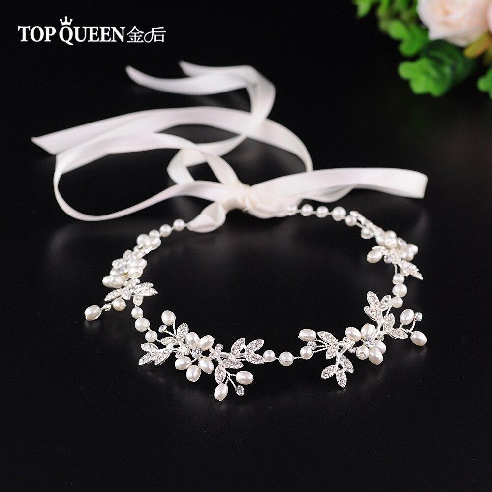 TOPQUEEN Wedding Tiara Silver Diamond Headband Designerweddinghairaccessories Rhinestones Wedding Headband For Bride HP152