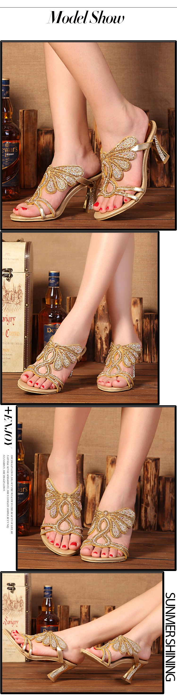 2016 New Golden Luxury Diamond High Heels Slippers Online Shopping Peep Toe  Womens Shoes Sandals Sale ... a1d6349ecb08