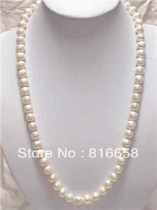 ecbea0453cc9 Elegan8.5-9mm AKOYA blanco redondo collar de perlas 18inch14k - a ...