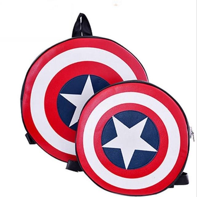 2016 New Captain America's Shield Backpack Avengers Alliance School Bags Men Women Children Backpacks Mochila Escolar