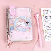 Kawaii Loose-leaf A6 Unicorn Spiral Sketchbook Notebook Journal Diary Plan To-Do It Blank Papers Stationery Kids Birthday Gift