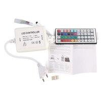 EU/UK Plug Telecomando A Infrarossi RGB a Colori 44 Button Key Mini IR Remote Controller Per RGB 50 metro Luce di Striscia del LED