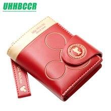 Женский маленький кошелек с рисунком Микки Мауса, милый кошелек для монет, держатель для карт, женские кошельки и кошельки, женские кошельки известного бренда