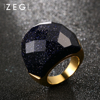 ZEGL exaggerated ring for women personality index finger ring fashion rings 2019 women blue hipster jewelry