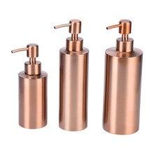 250 мл, 350 мл, 550 мл, дозатор жидкого мыла из нержавеющей стали, кухонный, для ванной комнаты, столешница, ручной насос, бутылка для лосьона, металлический дозатор мыла