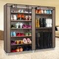 Paisaje casa Doble Arreglo Grandes Vapacity No Tejido Combinación Gabinete de Exhibición Del Zapato Zapato Botas de Cubierta A Prueba de Polvo Capas Estante