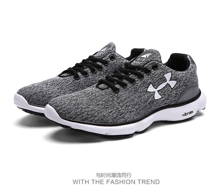 Высококачественная Мужская повседневная обувь весна сетчатые кроссовки спортивные Обувь для прогулок воздухопроницаемая комфортная обувь на плоской подошве для отдыха Zapatos