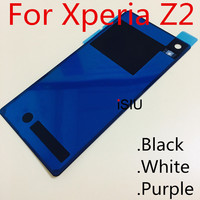 ISIU Replacement For Sony Xperia Z2 Back Cover Case Z 2 L50 L50w Glass Housing D6503